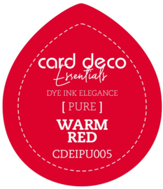 Card Deco Essentials Fade-Resistant Dye Ink Warm Red CDEIPU005