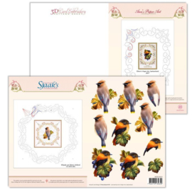 3D Card Embroidery Pattern Sheet #23 with Ann & Sjaak 3DCE13023