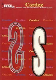 Crealies Cardzz letters letter S CLCZ419 max. 13 cm
