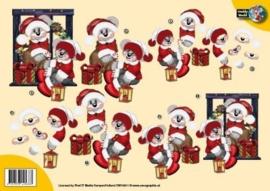 3D A4 Knipvel Creddy kerst rood pak CW10011