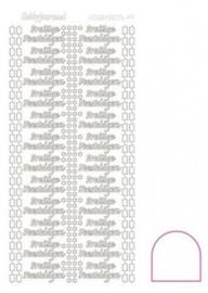 Hobby dots sticker Prettige Feestdagen Adhesive White STDAPF00