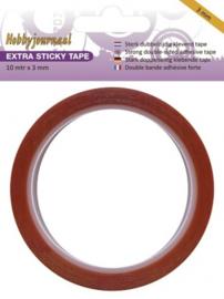 Hobbyjournaal - Extra Sticky Tape - 3 mm HJSTICKY03