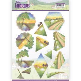3D knipvel - Jeanine's Art - Spring Landscapes - Sunset CD11292