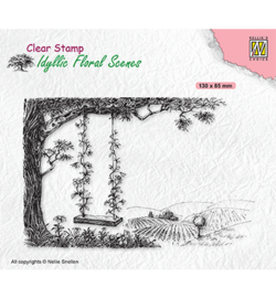 Nellie clearstamp IFS035 - Tree with swing