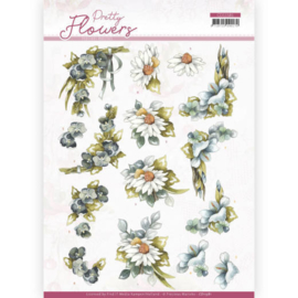 3D cutting sheet - Precious Marieke - Pretty Flowers - Blue Flowers CD11581