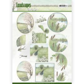 3D knipvel - Jeanine's Art - Landscapes - Winter Landscapes CD11173