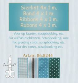 Lint ass. 4x1 mm - blauw 86.8244