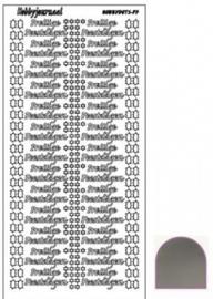 Hobby dots sticker Prettige Feestdagen mirror Zilver STDMPF08