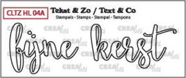 Crealies Clearstamp Tekst&Zo Fijne kerst omlijning (NL) CLTZHL04A 37 x 27 mm - 46 x 24 mm 130505/2608