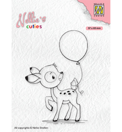 Nellie clearstamp NCCS008 - Young deer with balloon