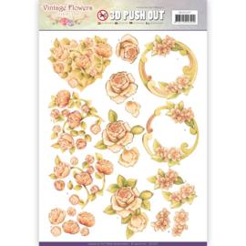 Pushout - Jeanine's Art - Vintage Flowers - Romantic Vintage SB10237