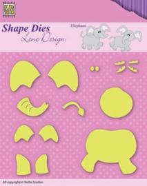 Shape Dies - Lene Design - Baby serie - Build-up elephant SDL031
