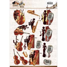 3D Knipvel - Amy Design - Sounds of Music - Jazz CD11062