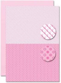 Decoupage sheet - Doublesided - Pink - Babyboy-suns NEVA083