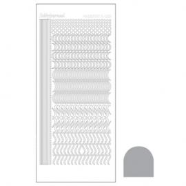 Hobbydots sticker - Mirror Silver 020 STDM208