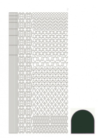 Hobbydots sticker - Mirror Christmas Green 012 STDM12j
