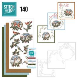 Stitch and Do 140 - Amy Design - Nostalgic Christmas - Christmas Birds STDO140
