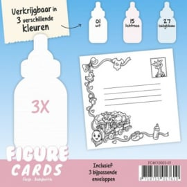 Figure Cards - Flesje - Wit FC4K10003-01