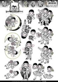 3D Knipvel - Yvonne Creations - Pierrotje CD10689