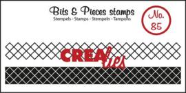 Crealies Clearstamp Bits&Pieces no. 85 lint xxx 9x95-9x95mm / CLBP85 130505/1085