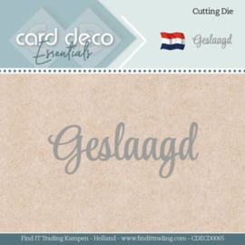 Card Deco Essentials - Dies - Geslaagd CDECD0065