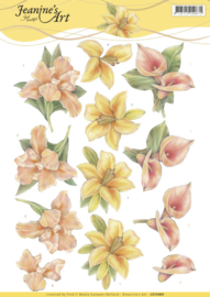 3D Knipvel - Jeanine's Art - Yellow Flowers CD11080