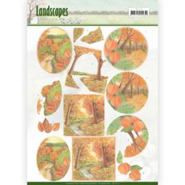 3D knipvel - Jeanine's Art - Landscapes - Fall Landscapes CD11172