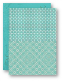 Background Sheets A4 turquoise retro NEVA048