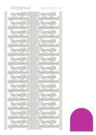Hobby dots sticker Hartelijk Gefeliciteerd mirror Pink STDMHGF