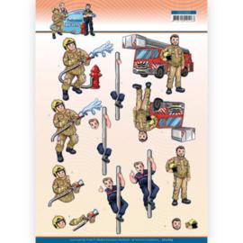 3D Cutting Sheet - Yvonne Creations - Big Guys Professions - Fire department CD11669
