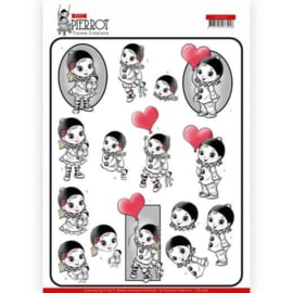 3D cutting sheet - Yvonne Creations - Petit Pierrot - With Love CD11467