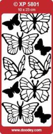 Vlinders transparant goud XP5801