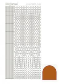 Hobby dots sticker mirror Brown 009 STDM09G