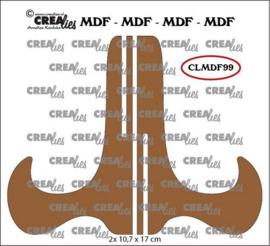 Crealies MDF projecthouder CLMDF99 2x 10,7 x 17cm