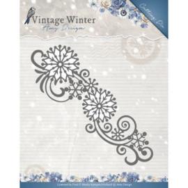 Die - Amy Design - Vintage Winter - Snowflake Swirl Border ADD10123