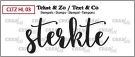 Crealies Clearstamp Tekst&Zo Sterkte (NL) CLTZHL03 62 x 27 mm  130505/2605