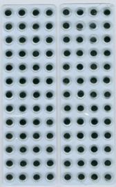 Wiebelogen zelfklev. rond zwart wit 8 mm 104 ST 802603/1932