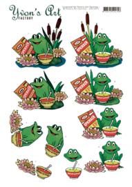3D Cutting Sheet - Yvon's Art - Get well Frog CD11677