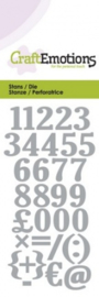 CraftEmotions Die - cijfers Card 5x10cm 115633/0165