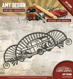 Die - Amy Design - Vintage Vehicles - Antique car border ADD10095