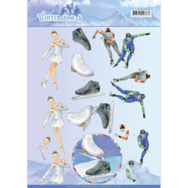 3D Knipvel - Jeanine's Art - Wintersports - Ice Skating CD11030