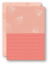 Background Sheets A4 salmon flowers-2 NEVA044