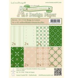 Leane Creatief Design Paper - Beige/Green 51.1154