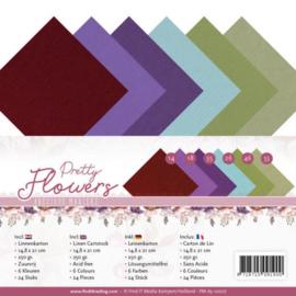 Linen Cardstock Pack - A5 - Precious Marieke - Pretty Flowers PM-A5-10027