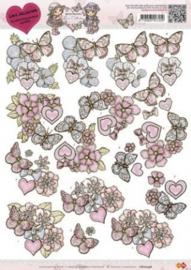 3D Knipvel - CD10246 - Yvonne Creations - Butterfly