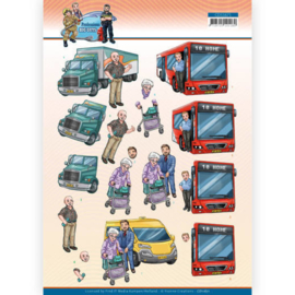 3D Cutting Sheet - Yvonne Creations - Big Guys Professions - Bus Driver Omschrijving CD11671