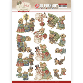 3D Push Out - Yvonne Creations - Have a Mice Christmas - Christmas Carol SB10582