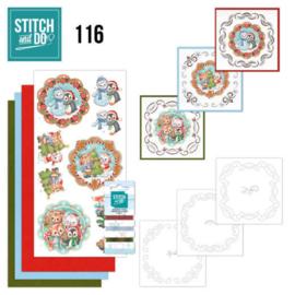 Stitch and Do 116 Sweet Winter Animals STDO116