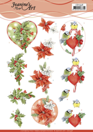 3D Cutting Sheet - Jeanine's Art - Red Holly Berries CD11538