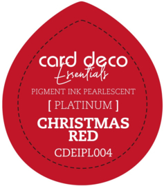 Card Deco Essentials Fast-Drying Pigment Ink Pearlescent Christmas Red CDEIPL004